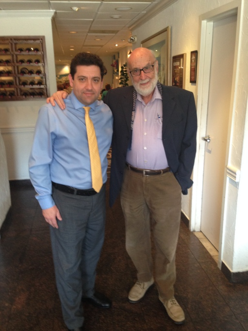Owner Angelo Mitsotakis with 2013 Nobel Prize Winner in Physics, Francois Englert