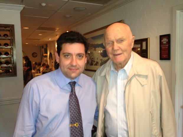 Owner Angelo Mitsotakis with Late Senator John Glenn, former NASA astronaut