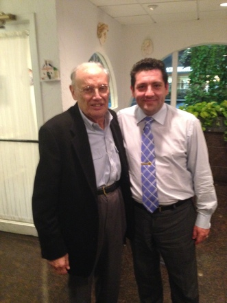Owner Angelo Mitsotakis with late Maryland Senator Leonard H. Teitelbaum