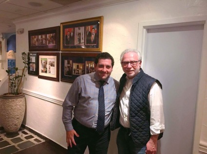 Owner Angelo Mitsotakis with CNN's lead political anchor and the anchor of The Situation Room with Wolf Blitzer