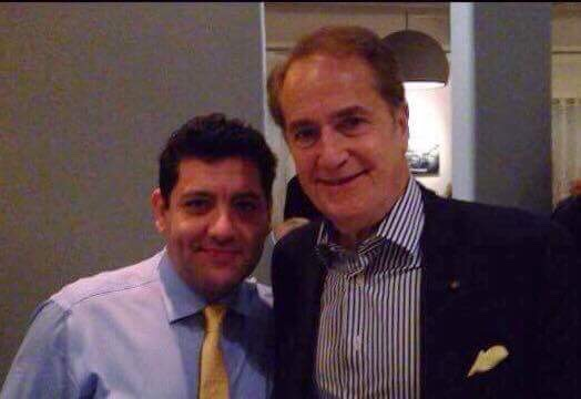 Owner Angelo Mitsotakis with Andy Manatos, Former Assistant Secretary of Commerce in the administration of President Jimmy Carter