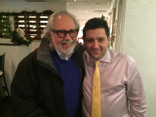 Owner Angelo Mitsotakis with film producer Louis A. Stroller