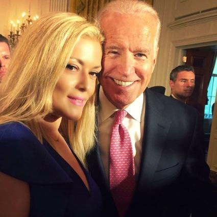 Rodi Tzani with President Biden
